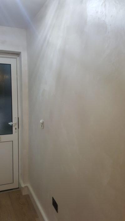 corridor venetian plaster walls