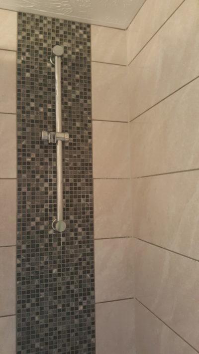 large tiles, mosaic tiles