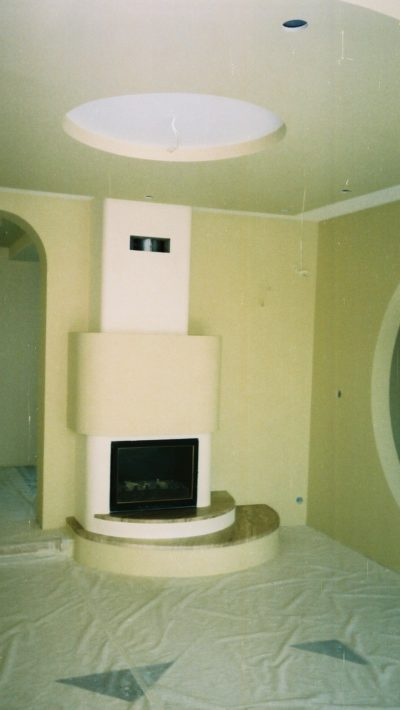 fireplace, painting