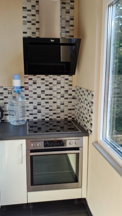 balcony transformation into kitchen area