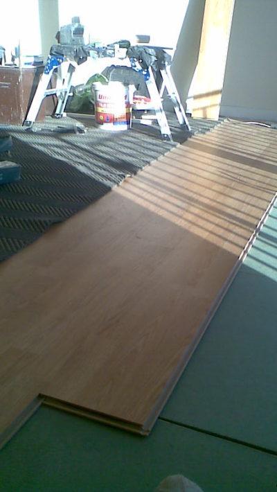 laying floor