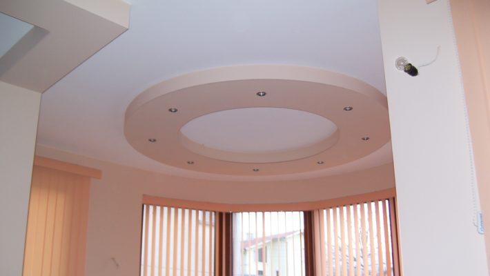 decorative ceiling, two colours