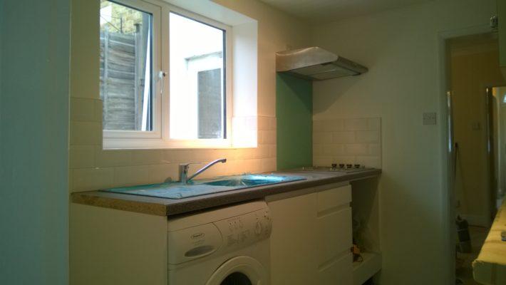 kitchen & tiling in white