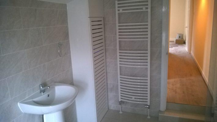 bathroom heated towel rail