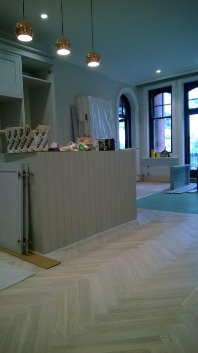 kitchen parquete floor