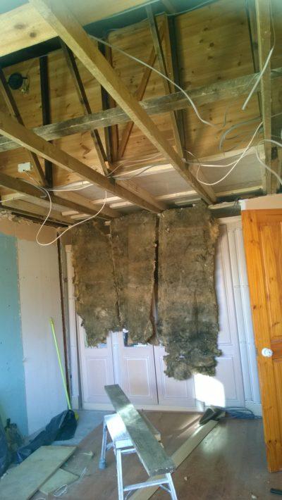demolition work, ceiling