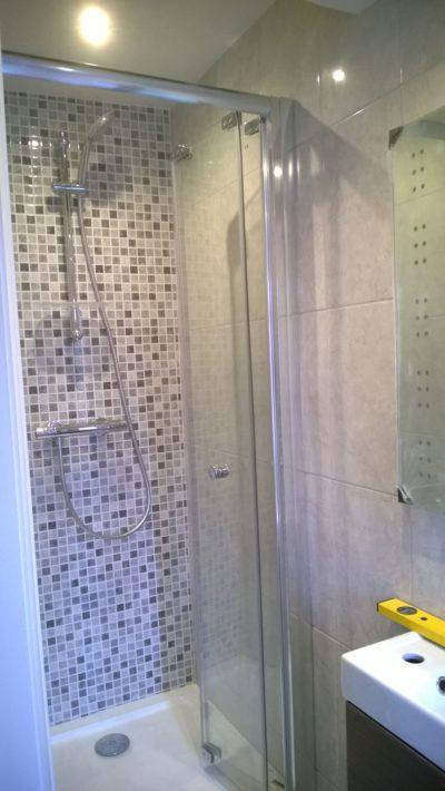 mosaic shower tiling