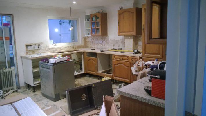 demolition work, kitchen