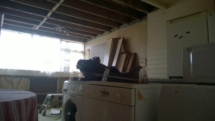 demolition, kitchen