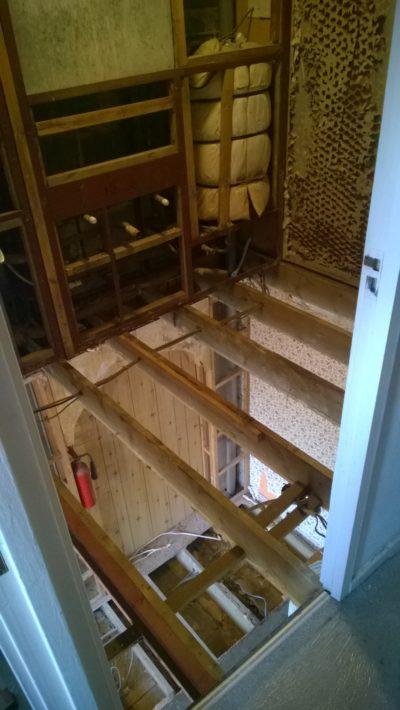 demolition work, floor