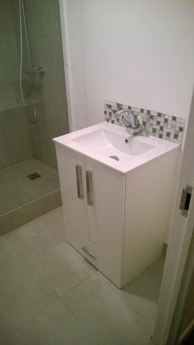 shower, sink, mixer, cabinet