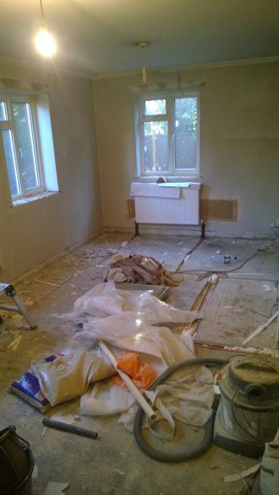 new radiator plumbing work