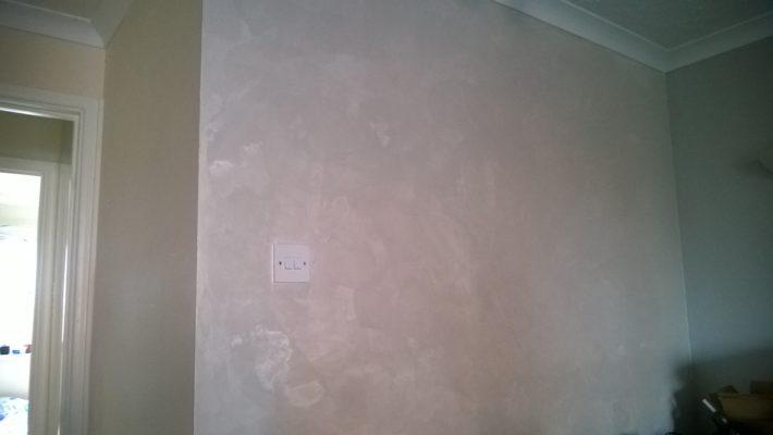venetian plaster accent wall