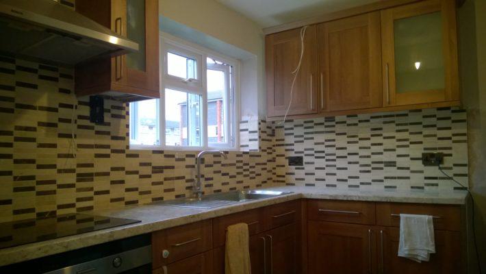 new kitchen tiling