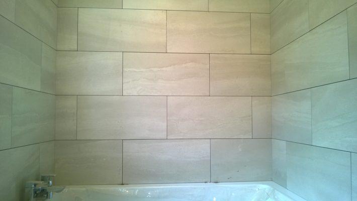 bathroom tiling, not finished