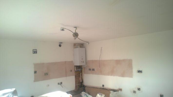 electrical work, installing new boiler