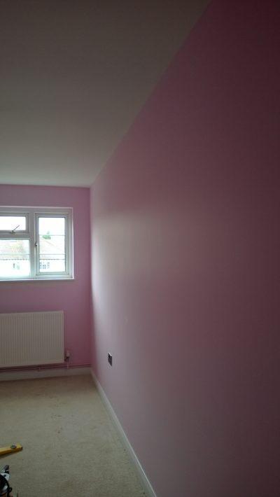 pink walls girls bedroom