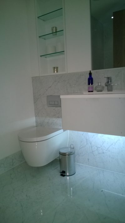 bathroom, marble tiles