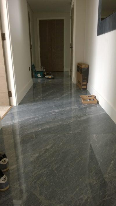 corridor floor tiling