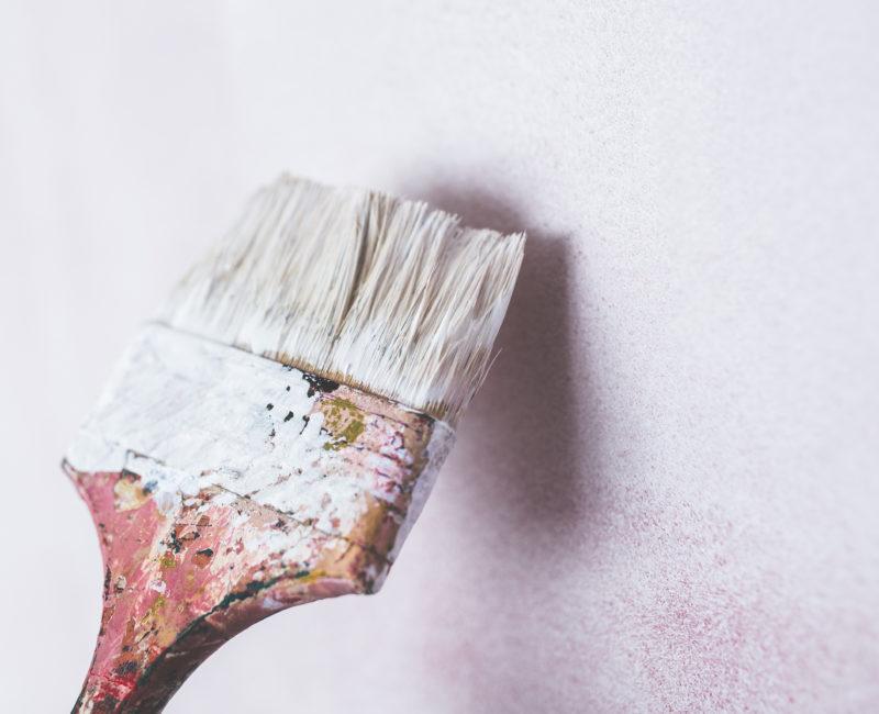 brush wall painting