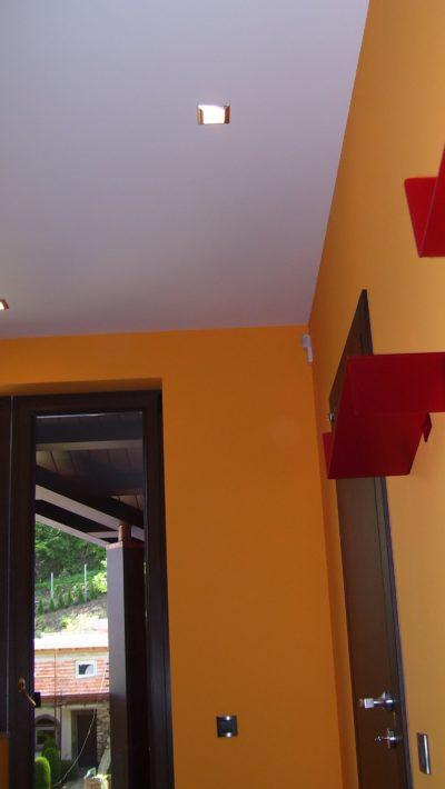orange painted walls