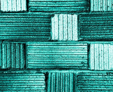 turquoise coloured wall